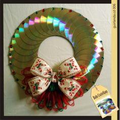 Decoracao-de-Natal-com-Reciclagem-de-CD-artesanato2