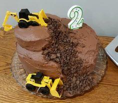 3 Year Old Birthday Cake, Toddler Birthday Cakes, Birthday Themes For Boys, Homemade Birthday Cakes, Themed Birthday Cakes, Boy Birthday Parties, 2nd Birthday, Digger Birthday, Birthday Ideas