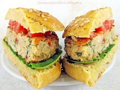 another possibility. White Bean Veggie Burgers (replace breadcrumbs with GF). on a mission for the perfect white bean burger ; Bean Recipes, Burger Recipes, Vegetarian Recipes, Healthy Recipes, Bean Burger, Ppr, Sandwiches, White Beans, Food Inspiration