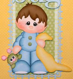 """Cuddle Bug"" Vertical Border for Scrapbook Pages.  Available on ebay here:  http://www.ebay.com/itm/300875932469?ssPageName=STRK:MESELX:IT&_trksid=p3984.m1555.l2649"