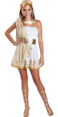 Teen Girls Greek Goddess Costume - Party City