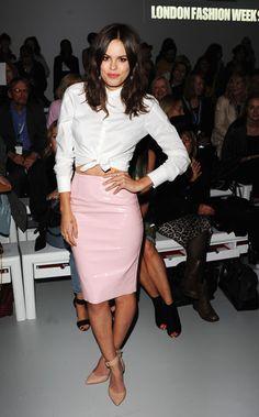 Atlanta de Cadenet Ashish Front Row - Spring 2014 London Fashion Week Party Pictures - Harper's BAZAAR