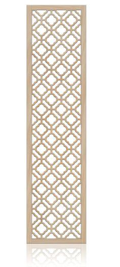 """Notre Dame"" quatrefoil room divider screen. 24x80 MDF $213. The perfect headboard!"