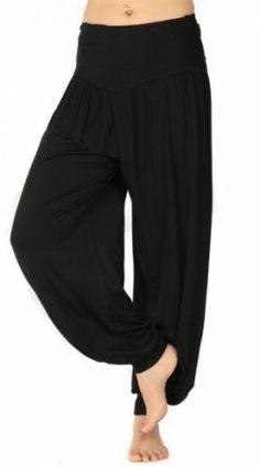 Luxusní capri - harémové, turecké kalhoty, tepláky - černé