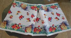 Vintage Retro Table Runner Colorful by VintageLinenGallery on Etsy