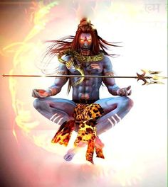 angry Rudra, the wrathful aspect of Lord Shiva