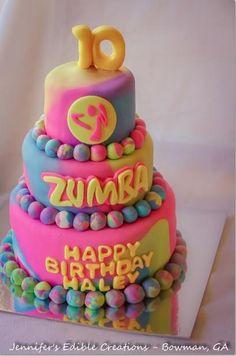 Zumba Birthday Cake