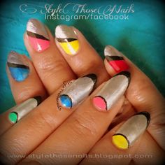 Style Those Nails: Mani Monday - Happy Holi #holinails #summernails #hotnails #colorfulnails #colourblocknails