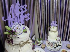 Purple Rustic Bridal