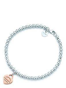 TIFFANY & CO Return to Tiffany™ bead bracelet in silver and RUBEDO™ metal, medium