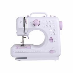 Sewing Machine, 12 Stitches Portable Electric Sewing Machine Handheld Sewing Machine with Foot Pedal 2 Speed Double Threads Small Household Sewing Tool Hobbycraft Sewing Machine, Sewing Crafts, Led Licht, Straight Stitch, Sewing Table, Janome, Looks Vintage, Sewing For Beginners, Hobbies And Crafts