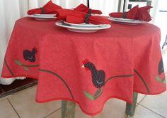 Toalha de mesa para 4 pessoas(redonda, quadrada.