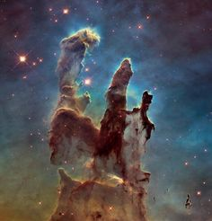 This Hubble Space Telescope image of the so-called Pillars of Creation is utterly sublime.