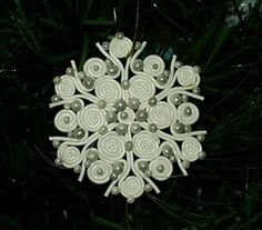 Christmas Ornament Polymer Clay Snowflake | creation-in-clay - Seasonal on ArtFire