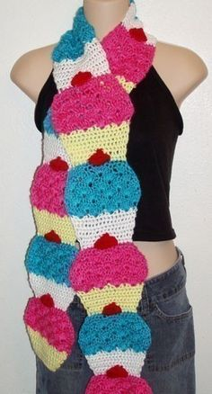 DIY Crochet Pattern for  cupcake Scarf by dianelangan on Etsy, $5.00