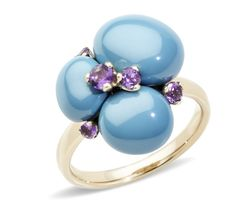 A turquoise ceramic ring from the Capri Collection by Pomellato (=)