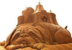 Lovely Movement: Esculturas de areia