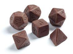 Dados de rol en chocolate