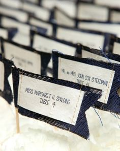Sewn Escort-Card Flags