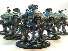 Warhammer 40k Imperial Knight Army Fully Painted & Magnetized 2000 Points
