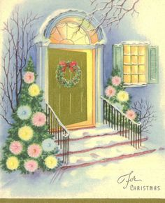 Vintage Wallace Brown Christmas Card