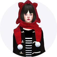 Marigold : Cat hood scarf unisex.