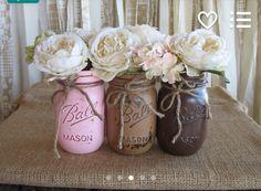 Mason jars painted