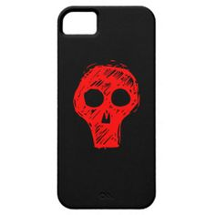 Red Skull Fonts iPhone 5 Cover