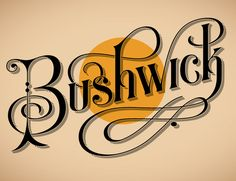 Bushwick, by Jessica Hische, YG7. Guest post for Friends of Type inspired by Neil Young's Harvest.