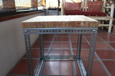 Modern/Industrial Pallet Table - Instructables Industrial Desk, Modern Industrial, Industrial Furniture, Carriage Bolt, Minimal Living, No Waste, Wood Pallets, Pallet Wood, Pipe Furniture