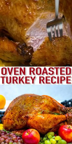 Oven Roasted Turkey is a tender and juicy, high-protein main dish that you can serve for Thanksgiving! Unlock the secret to how to perfect it with this simple recipe! recipe videos Perfect Oven Roasted Turkey - Sweet and Savory Meals Turkey In Oven, Oven Roasted Turkey, How To Cook Turkey, Cooking The Perfect Turkey, Cooking Turkey, Easy Turkey Recipes, Chicken Recipes, Recipe For Baking Turkey, Simple Turkey Recipe
