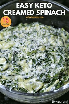 This easy, cheesy, Keto & Low Carb Creamed Spinach recipe is my copycat to the side dish that you might find at a steakhouse or Boston Market. In this post, I share how to make creamed spinach and giv Low Carb Side Dishes, Side Dishes Easy, Vegetable Side Dishes, Side Dish Recipes, Vegetable Recipes, Spinach Side Dishes, Low Carb Creamed Spinach Recipe, Frozen Spinach Recipes, Recipes