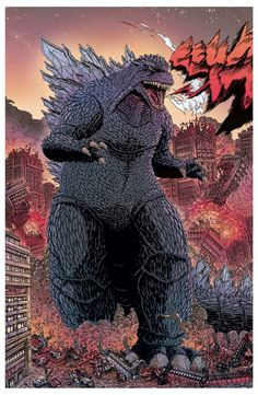 #Godzilla #Fan #Art. By: James Stokoe. AWESOMENESS!!.