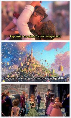 La luna de miel de #Rapunzel y #Flynn #Rider en.... #Arendelle  #frozen #anna #tangled #enredados #disney