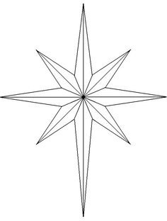 christian symbol black line art for kids | natal cross, with a four-pointed Bethlehem Star representing the ...