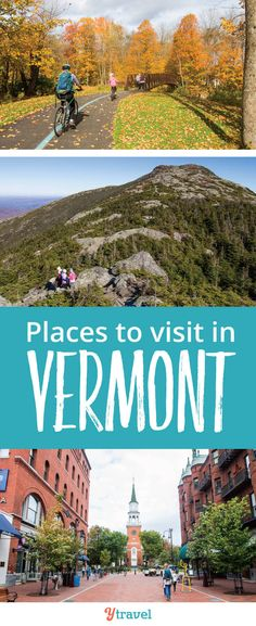 Places to Visit in Vermont, New England. Planning a trip to Vermont? Put these 6 places on your itinerary. Vermont is especially beautiful in the fall, but also during all four seasons. Here are 6 places to visit in Vermont on a one week road trip. Beautiful Places To Visit, Cool Places To Visit, Places To Travel, Places To Go, Travel Destinations, New England States, New England Travel, Costa Rica, Le Vermont