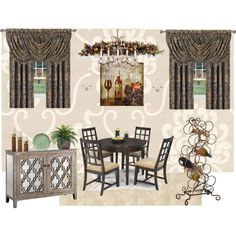 Formal Dining Room by vonda-brooks on Polyvore featuring interior, interiors, interior design, home, home decor, interior decorating, Crystorama, MANGO, J. Queen New York and Brewster Home Fashions