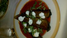 Roasted baby eggplant with tomato sauce, goat cheese, and basil - Vinci (Restaurant Week)
