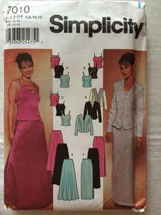 Items similar to Simplicity 7010 UNCUT New Misses Size 6 b96ed8902