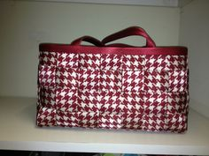 Large Satchel in the red houndstooth..
