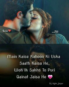 Aap khud hi samajh lo in love with you Real Love Quotes, First Love Quotes, Love Husband Quotes, Qoutes About Love, Romantic Love Quotes, Love Sayri, Crush Love, Romantic Shayari, Romantic Poetry