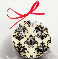 Damask Chocolate Covered Oreo...Bridal Shower Favor