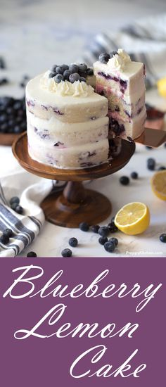This 3-layered Blueberry Lemon Cake is very moist and airy.  I put fresh blueberries in it and covered the cake with a delicate, homemade buttercream frosting. The lemon juice and zest add a nice zing to the cake   Beautiful cakes, summer cakes, cake recipes, blueberry recipes, blueberry desserts, Lemon desserts #blueberry #cakes #lemoncakes #desserts #comfortfood #bestcakes #beautifulcakes #lemon #recipes #recipe