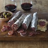 Olli Salumeria Salame Collection.  I can so see this on the table on a sunny day, sitting outside with a good friend.  Catching up on the latest and enjoying the good life.