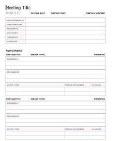 Minutes Word Template Pleasing Comprehensive Personal College Budget Template  My Favorite .