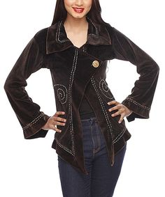 Take a look at the Chocolate Spiral Jacket on #zulily today!