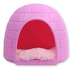 pink dog igloo House Pet puppy Dogloo