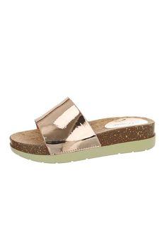 Papuci cu talpa de pluta bicolora