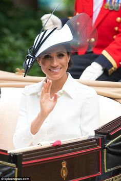 Prince Harry and Meghan Markle join the Queen at Royal Ascot | Daily Mail Online