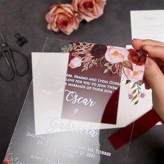 Acrylic Wedding Invitations, Pocket Wedding Invitations, Diy Invitations, Wedding Invitation Suite, Wedding Stationery, Wedding Favors, Wedding Decorations, Velvet Wedding Invitations, Original Wedding Invitations